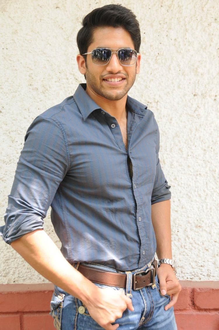 Naga Chaitanya Strikes A Pose During The Interview Of Thadaka Movie