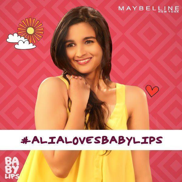 Alia Bhatt Cute Shoot For Baby Lips