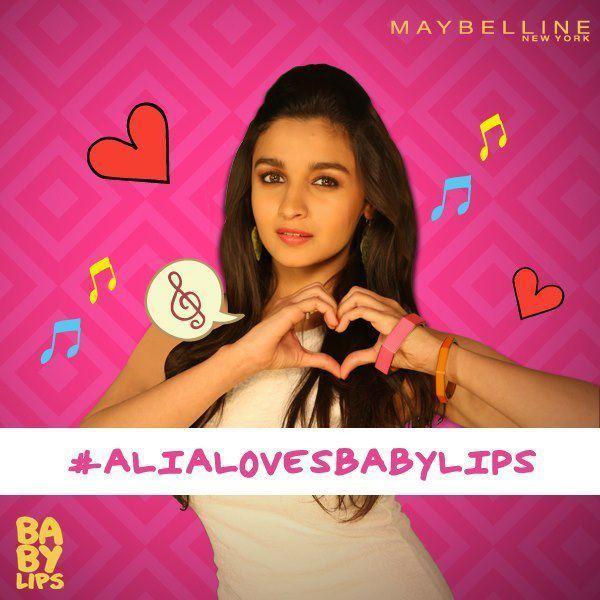 Alia Bhatt  Shoot For Baby Lips