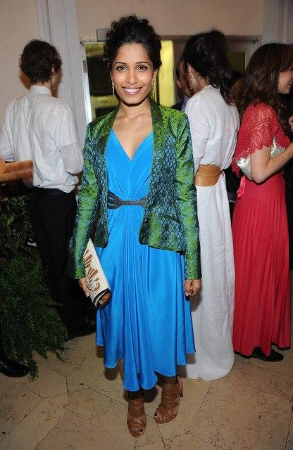 Freida Pinto Attends A Dinner At The Indian Consulate