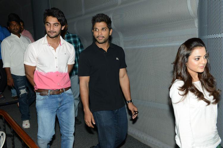Aadi,Allu Arjun And Nisha Agarwal Spotted At Sukumarudu Triple Platinum Disc Function