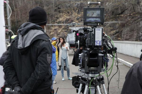 Bollywood Hot Beauty Katrina Kaif Shoot Climax Of Dhoom 3
