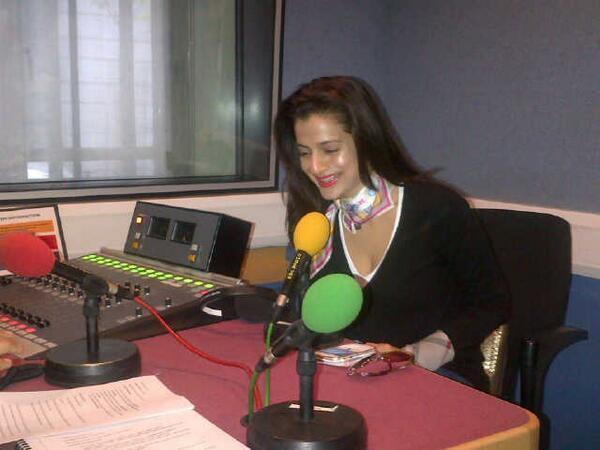 Ameesha Patel Smiling Pic At BBC Radio Station In London