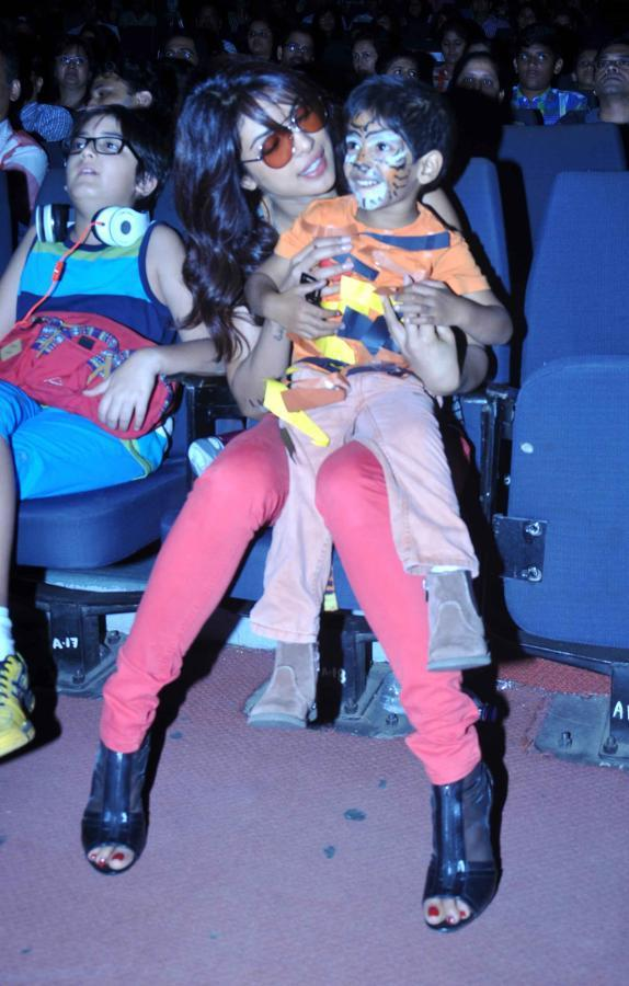 Priyanka Chopra Cool With A Kid At St. Andrews College Musical Event