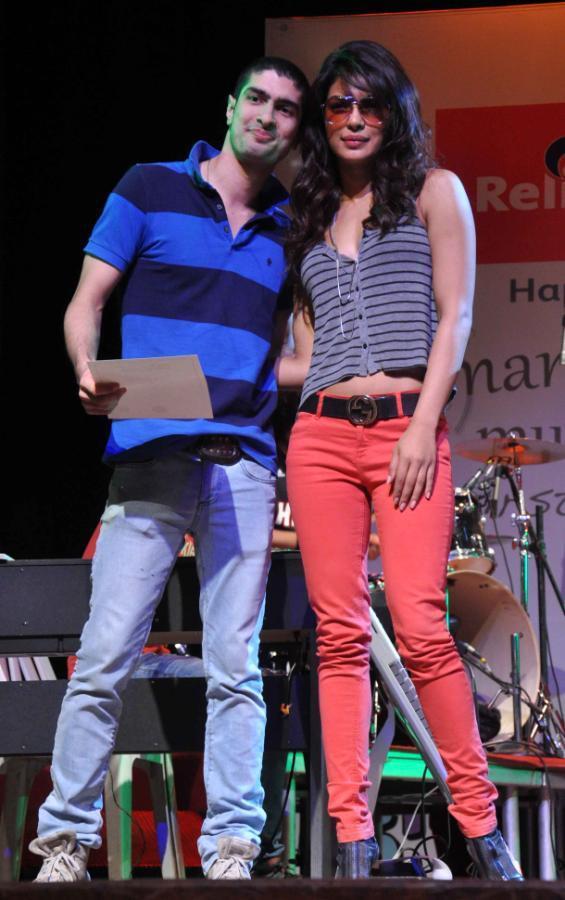 Priyanka Chopra Glamour Look At St. Andrews College Musical Event