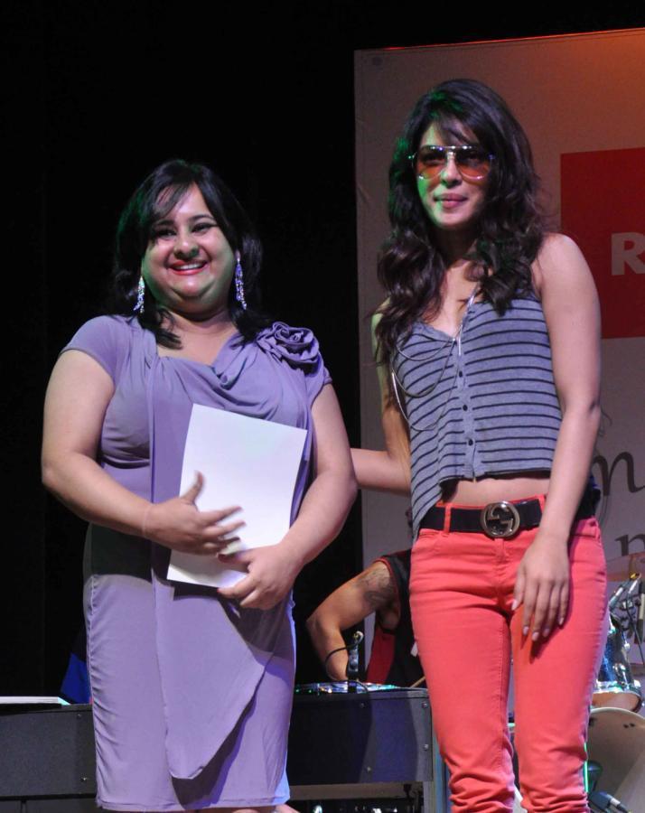 Priyanka Chopra Posed At St. Andrews College Musical Event