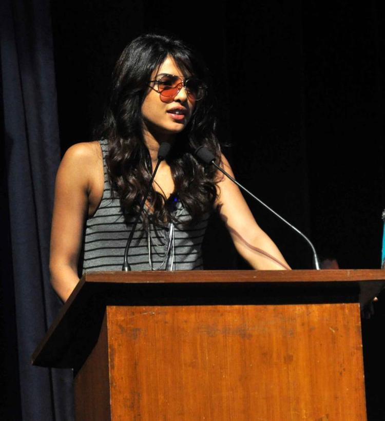 Priyanka Chopra Speaking Still At St. Andrews College Musical Event
