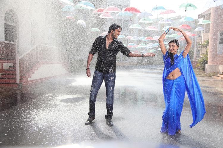 Neelam And Allari Naresh Sexy Dance Still During Rain Fall In 3D Movie