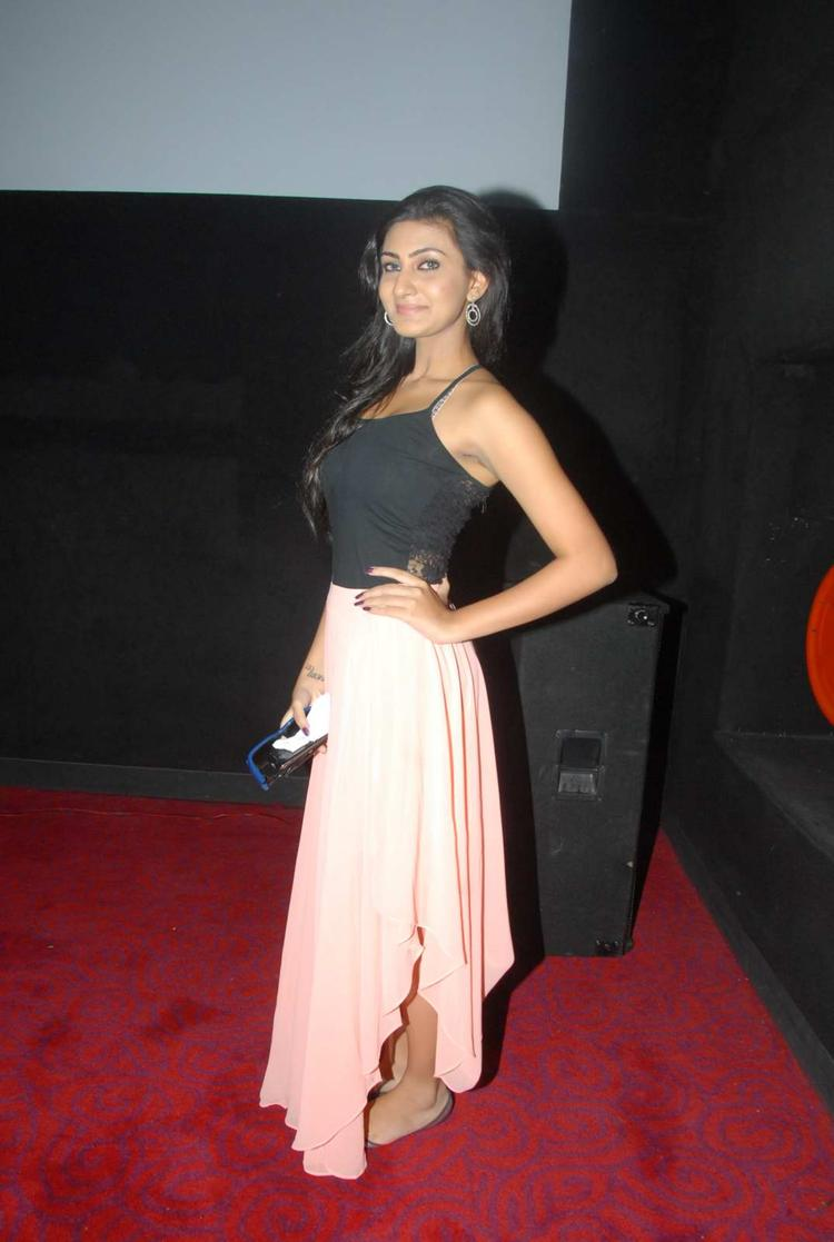 Neelam Upadhyay Posed For Camera In Red Carpet At Action 3d Shooting Spot Press Meet
