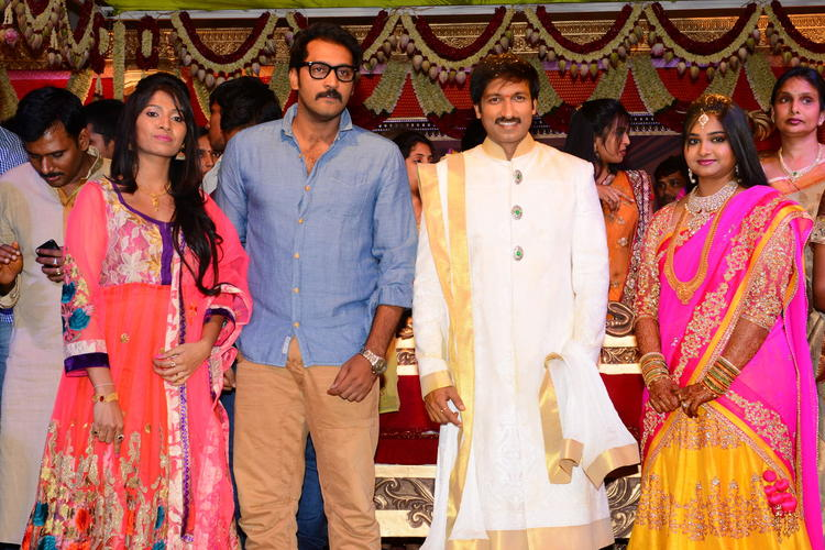 Gopi Chand And Reshma Wedding Bash Pic With Guests