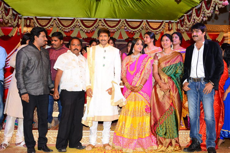 Tollywood Top Celebs Spotted At Gopi And Reshma Wedding Bash