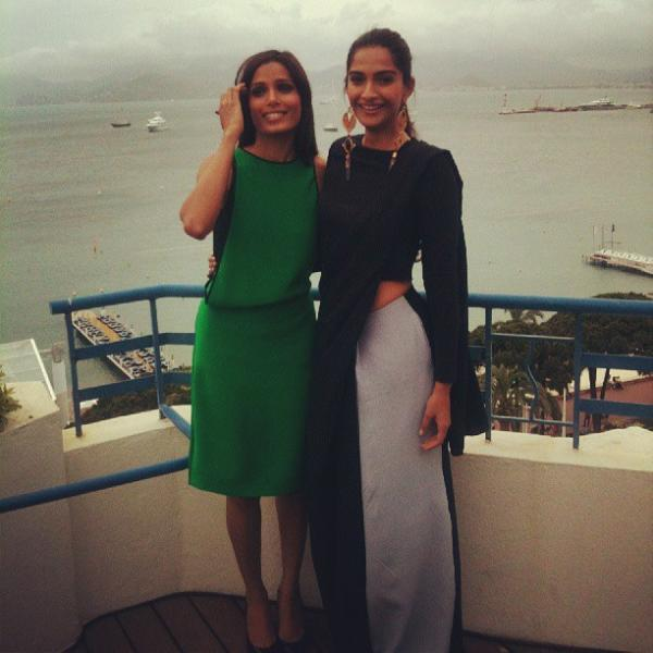 Freida And Sonam Strike A Pose At Hotel Martinez In Cannes 2103