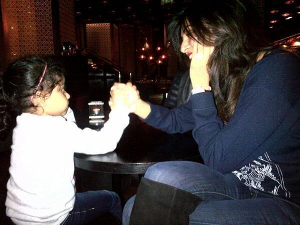Sushmita Cool With Her Daughter Alishah Photo