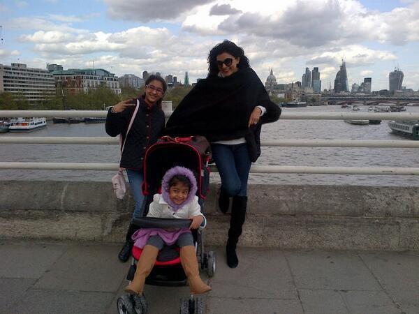 Sushmita Posed With Her Daughters Renee And Alishah Enjoying Photo