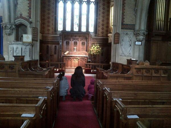 Sushmita Prayed With Two Daughters Renee And Alishah At A Church Photo Still