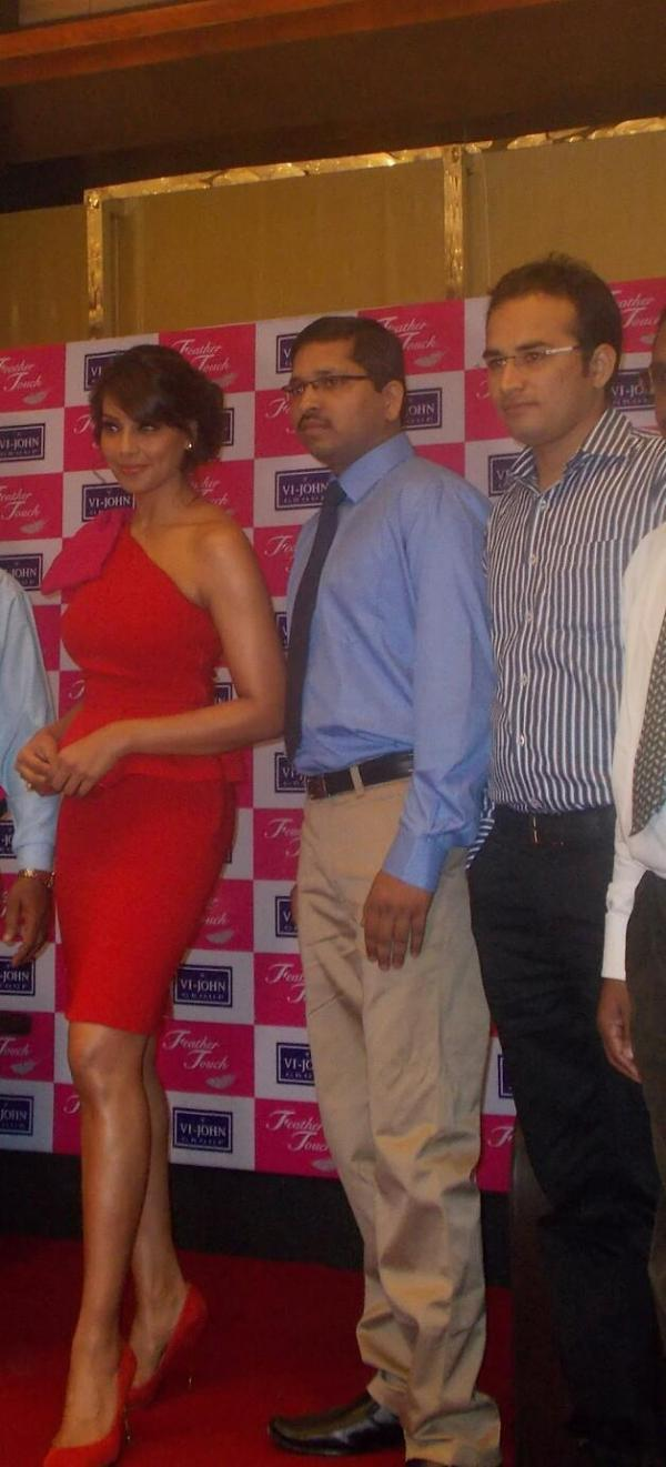 Bipasha Basu In Red Dress At Vijohn Cream Distributors' Meet