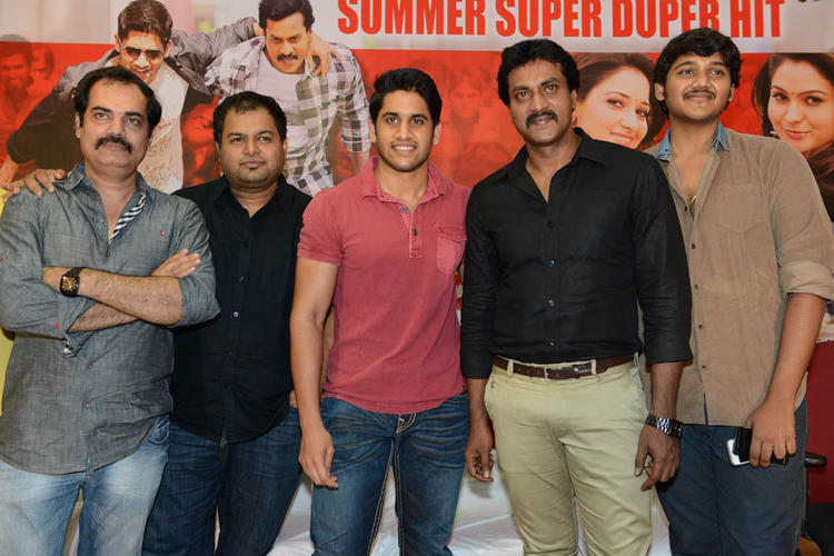 Kishore,S. Thaman,Naga And Sunil Posed At Tadakha Movie Success Meet Event