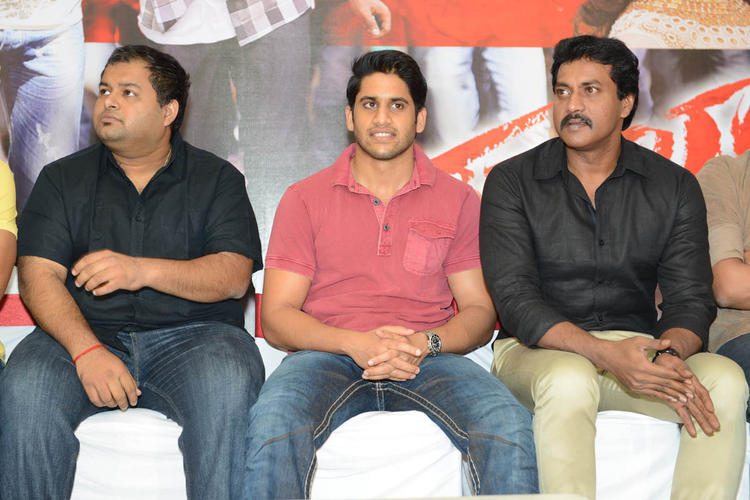 S. Thaman,Naga And Sunil During The Tadakha Movie Success Meet Event