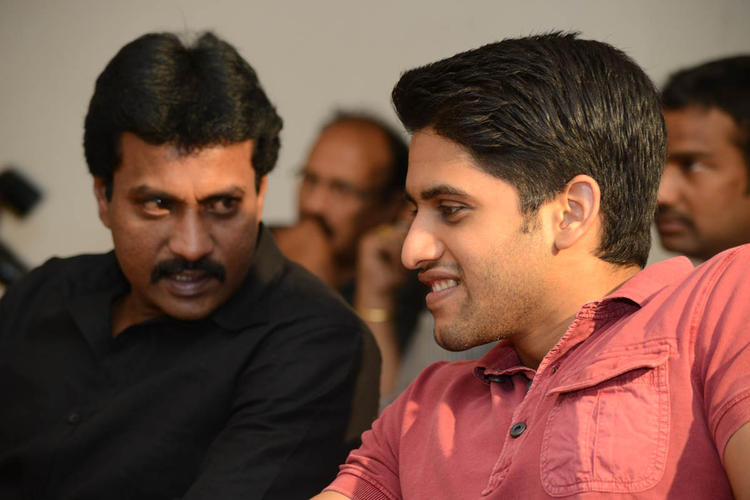 Sunil Varma And Naga Chaitanya Cool Chatting At Tadakha Movie Success Meet Event
