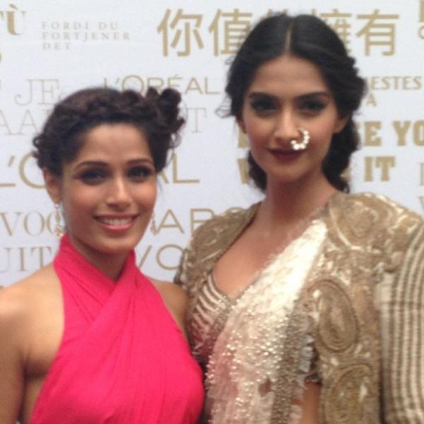 Freida And Sonam At The Great Gatsby Premiere At Cannes Film Festival Opening Ceremony