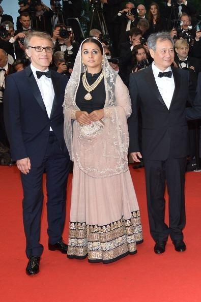 Vidya Balan In Sabayasachi At The Great Gatsby Premiere at Cannes Film Festival