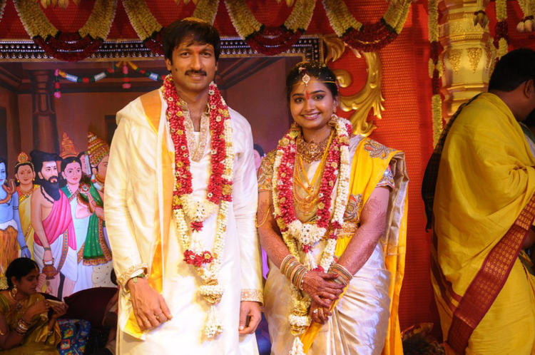 Beautiful Couple Gopi Chand And Reshma Wedding Ceremony Photo