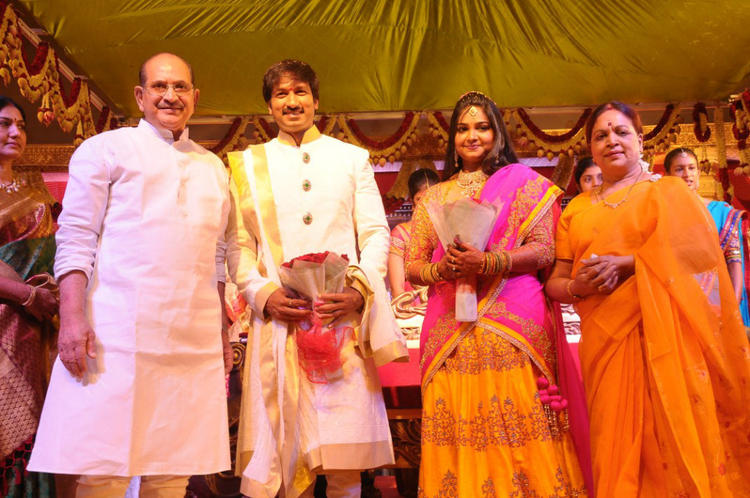 Gopi Chand And Reshma Wedding Reception Photo