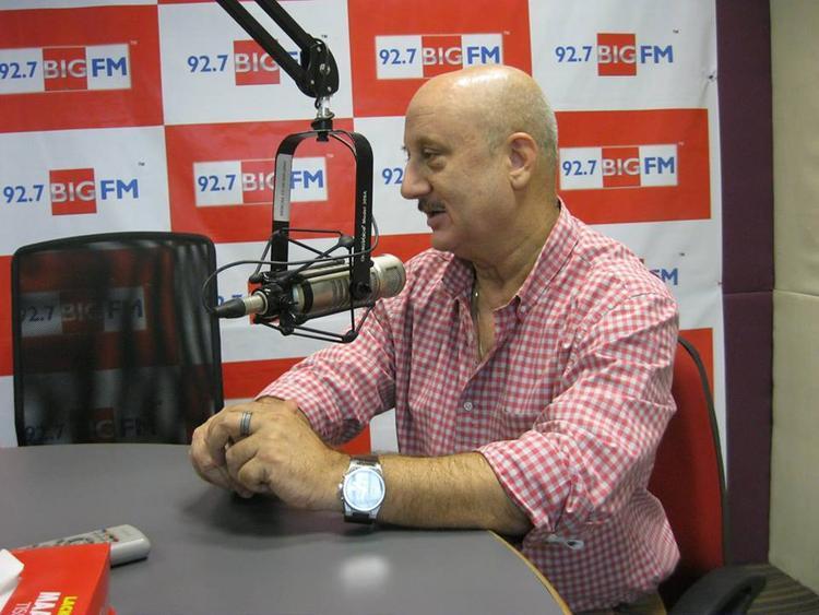 Anupam Kher Snapped At 92.7 BIG FM Studio
