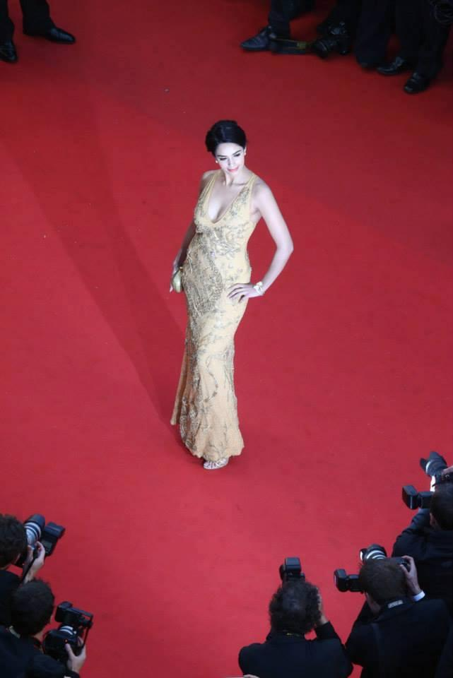 Mallika Sherawat Ramp On Red Carpet At Screening Of Great Gatsby At Cannes