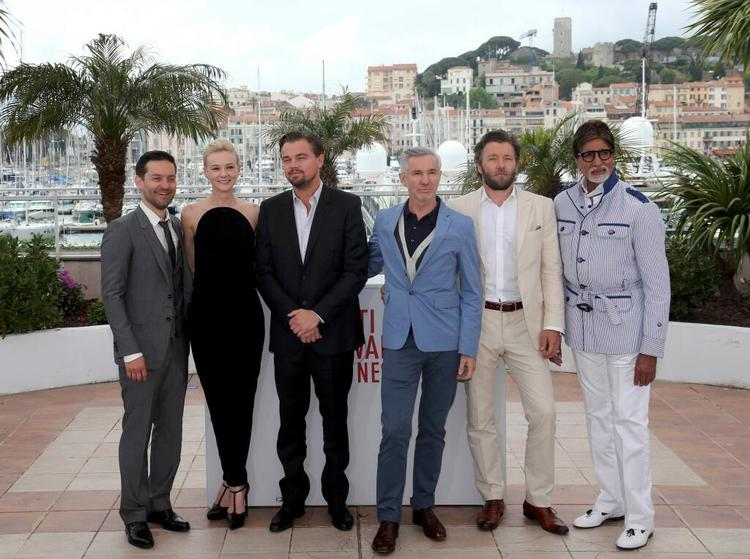 Big B with The Gatsby Team At The Cannes Film Festival