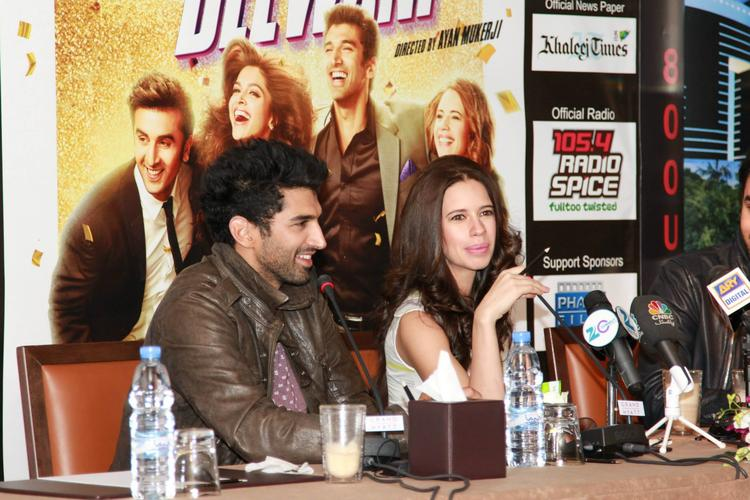 Aditya And Kalki Spotted At Dubai For The Promotion Of YJHD