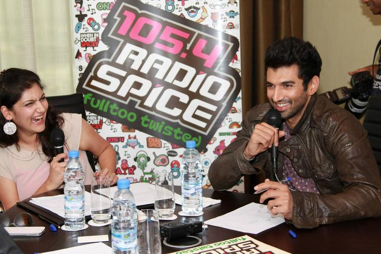 Aditya Roy Kapur Speaking During The Promotion Of YJHD In Dubai At 105.4 Radio Spice FM