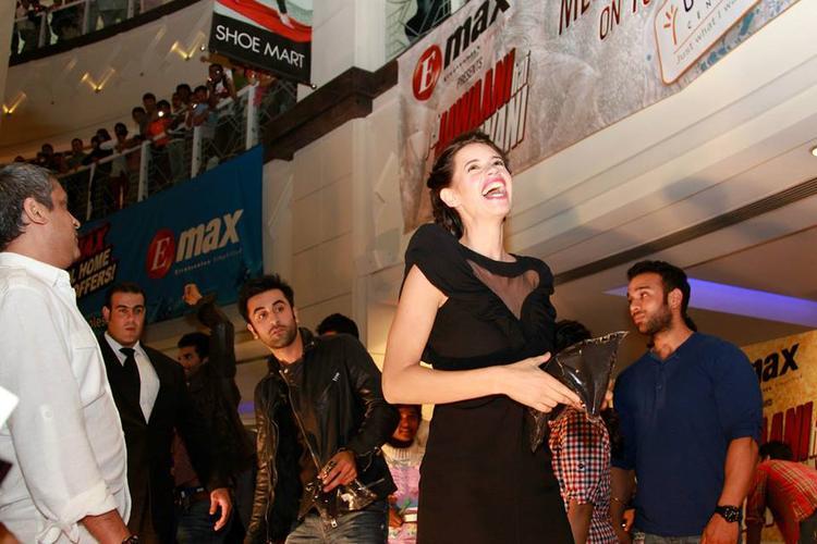 Dazzling Kalki Koechlin Smiling During The Promotion Of YJHD At Dubai