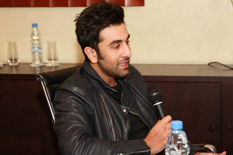 Ranbir Kapoor Addresses The Media In Dubai At 105.4 Radio Spice FM For Promoting YJHD