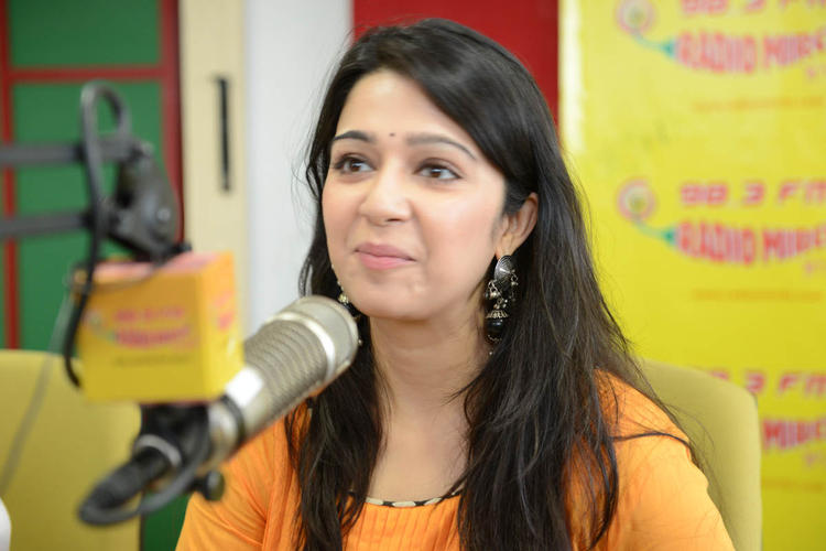 Charmy Kaur Charming Face Look At 98.3 FM Radio Mirchi For Prema Oka Maikam Movie Promotions Event