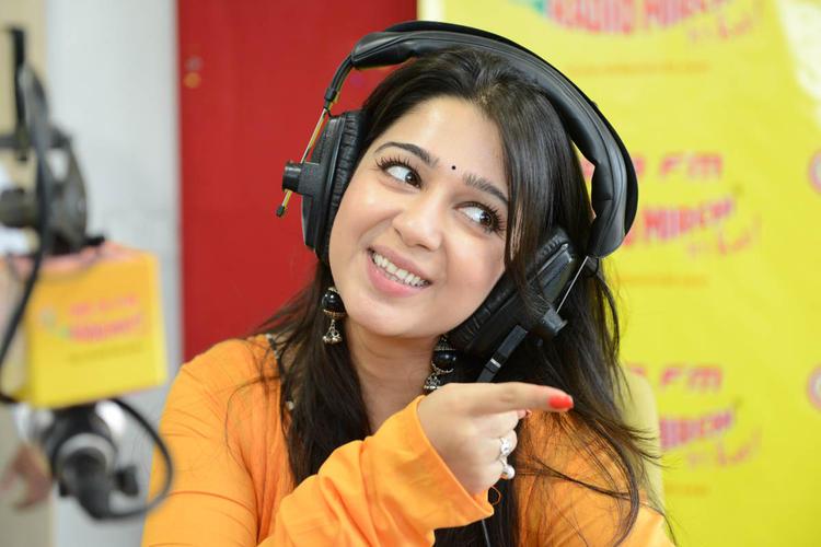 Charmy Kaur Dazzling Cute Look At 98.3 FM Radio Mirchi Station