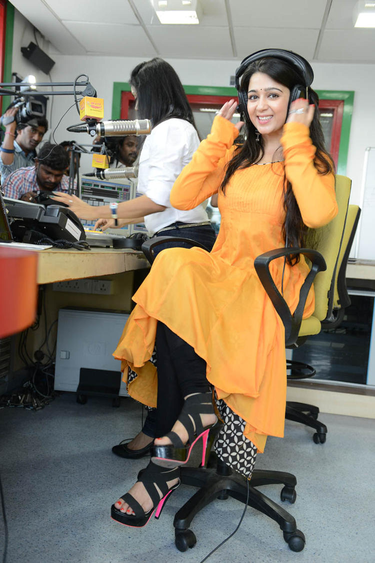 Charmy Kaur Nice Cool Pose At Prema Oka Maikam Movie Promotions Event