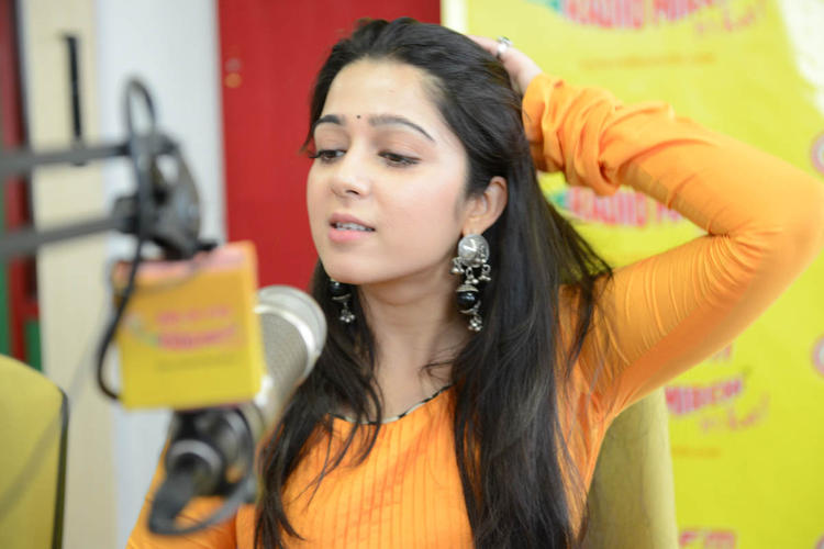 Charmy Kaur Sizzles At 98.3 FM During The Promotion Of Prema Oka Maikam Movie
