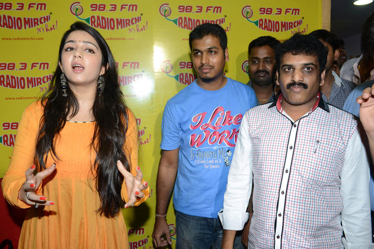 Charmy Spotted At 98.3 FM Radio Mirchi For Prema Oka Maikam Movie Promotions Event