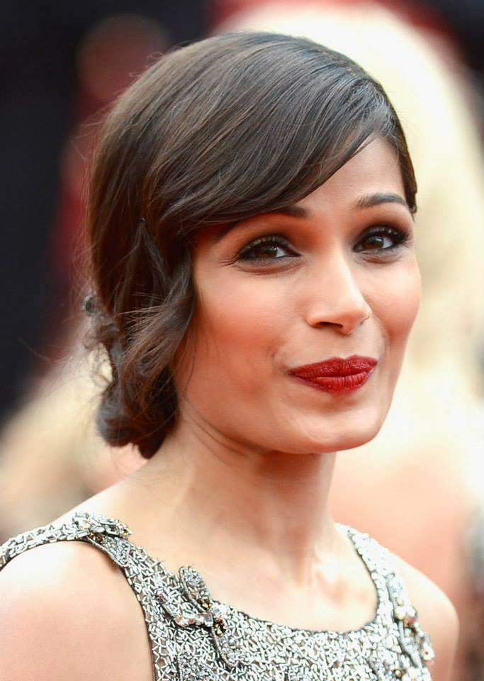 Freida Close Up Swet Smile Pic At Cannes 66th Film Festival 2013