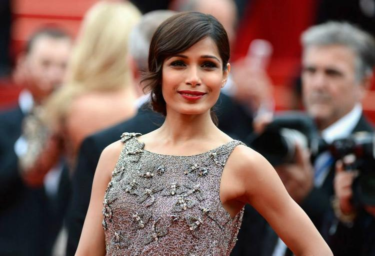 Freida Pinto Attend The Premire Of Jeune And Jolie At Cannes Film Festival In A Sanchita Slinky Gown