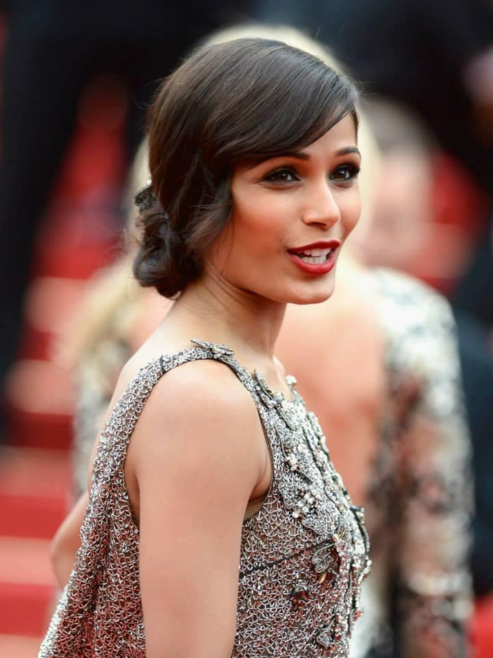 Gorgeous Freida Pinto The Premire Of Jeune And Jolie At Cannes Film Festival On Red Carpet