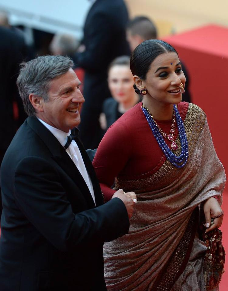 Vidya Balan Walked The Red Carpet At The Jeune And Jolie Premiere At Cannes Film Festival
