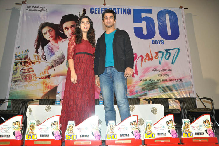 Swati And Nikhil Graced At Swamy Ra Ra Movie 50 Days Function