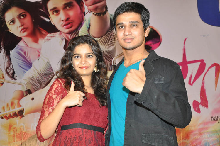 Swati And Nikhil Posed At Swamy Ra Ra Movie 50 Days Function