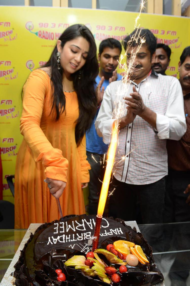 Charmi Kaur At 98.3 FM Radio Mirchi For Movie Promotion