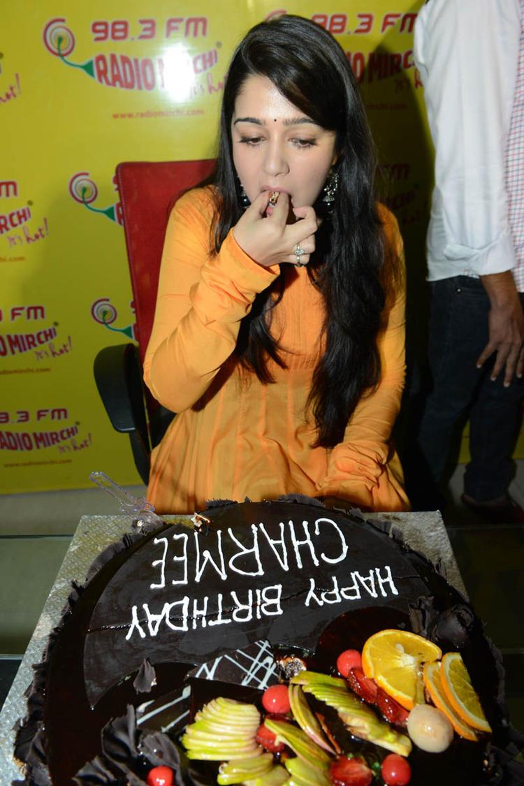 Charmi Kaur At The Promotional Event Of Prema Oka Maikam Movie