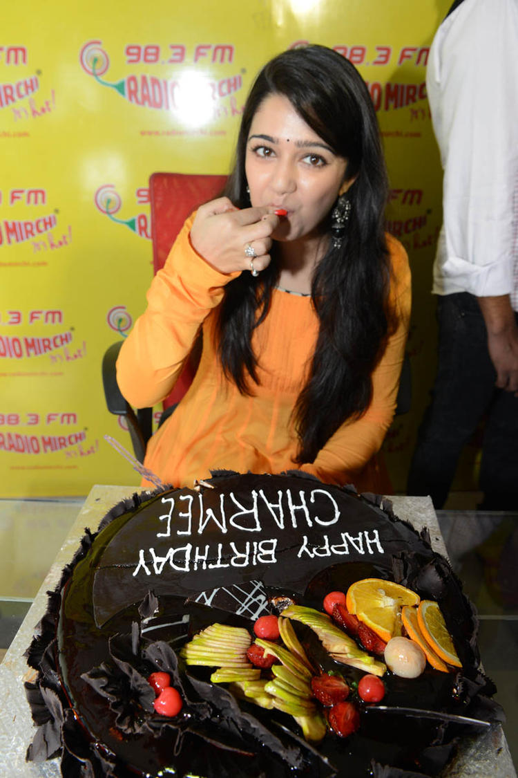 Charmi Kaur Sweet Still At The Promotional Event Of Prema Oka Maikam Movie
