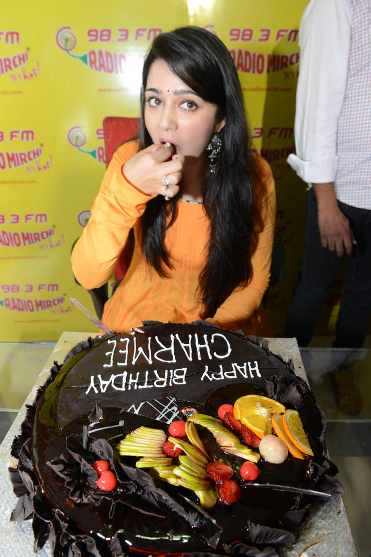 Gorgeous Babe Charmi Kaur Latest Pic During The Promotional Event Of Prema Oka Maikam Movie