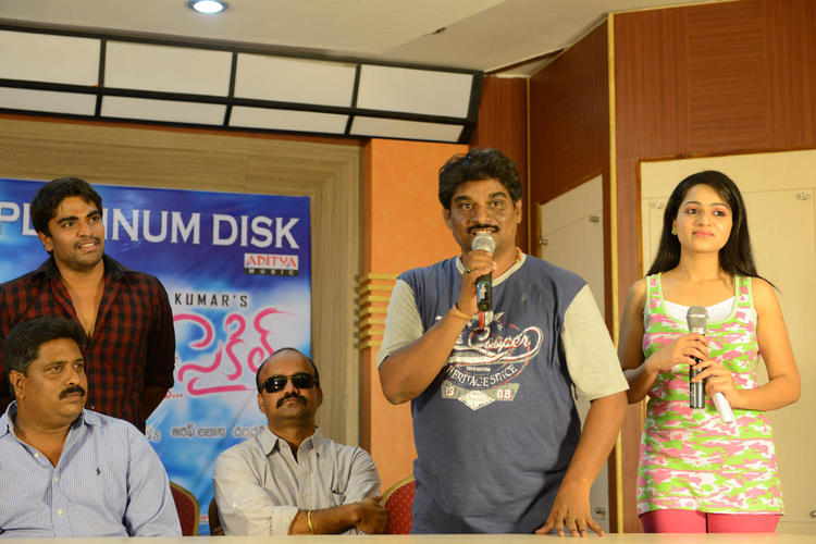 Reshma And Srinivas During The Love Cycle Platinum Disc Function